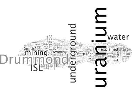 Uranium Facility, typography text art vector illustration