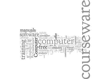 Computer Courseware, typography text art vector illustration