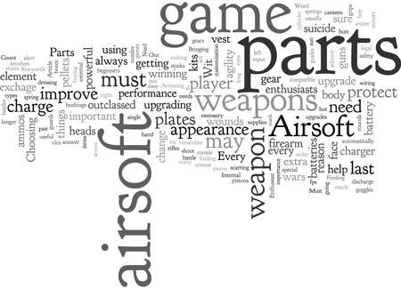Airsoft, typography text art vector illustration