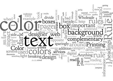 Basic Rules on Page Layout and Color