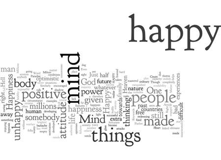 Be Happy Happiness is just a Matter of Mind 向量圖像