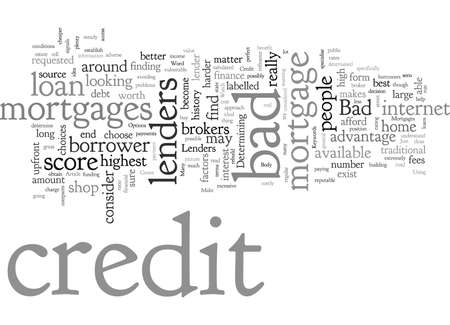 Bad Credit Mortgages And The Options You Have