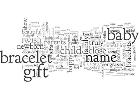 Baby Name Bracelet The Perfect Gift For A Newborn Baby  イラスト・ベクター素材