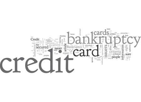 Bankruptcy Credit Card How Choose One