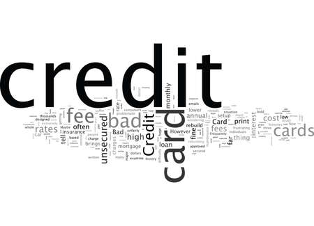 Bad Credit Credit Cards How You Can Avoid High Fees Illusztráció