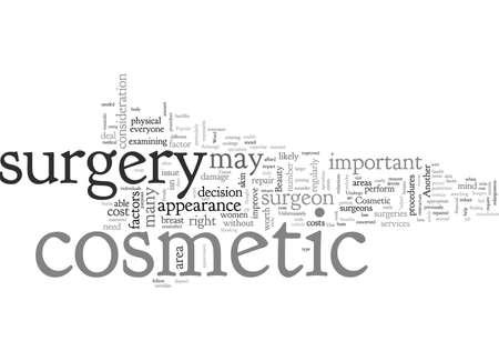 Beauty Should You Undergo Cosmetic Surgery Archivio Fotografico - 132305628
