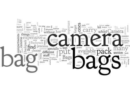 back pack camera bag Illustration