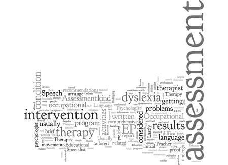 Assessment Choices For Adult Dyslexia Foto de archivo - 132308570