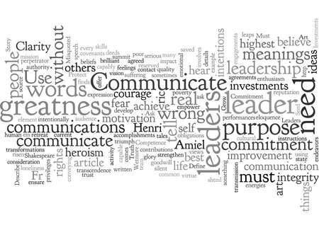 c s leaders must communicate