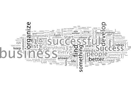 Business Aimed to Success To Do List Illustration