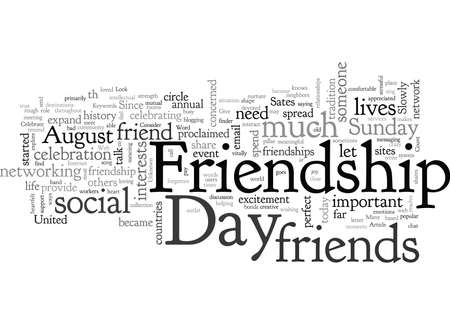 Celebrate Friendship Day Illustration