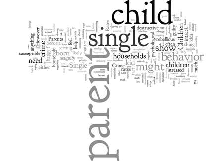 children of single parents and crime rates Illustration