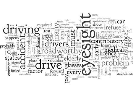 Car Insurance Bad Eyesight Threatens Your Insurance Cover