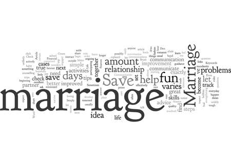 Can You Save Your Marriage Stock Illustratie