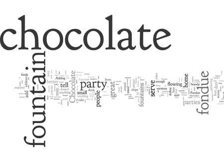 Fontana di fonduta di cioccolato