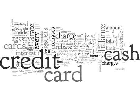Cashback-Kreditkarten Einige Dinge, die Sie beachten sollten