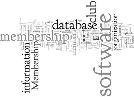 Club Membership Software With Secure Database Illustration