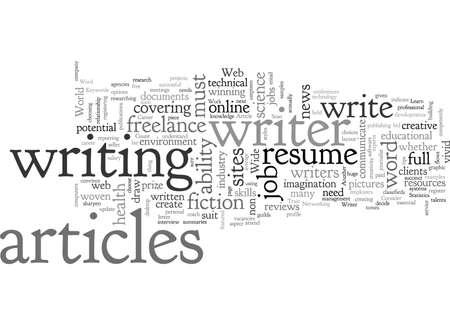 Karrieretipps für einen Schriftsteller Vektorgrafik
