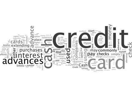Cash Advances And Credit Card Checks A Closer Look Stock Illustratie