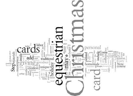 equestrian christmas cards Ilustração