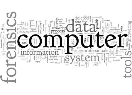 computer forensics tools Illustration