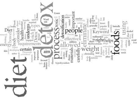 Detox Diet Stock Illustratie