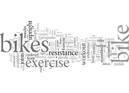 Exercise Bikes Reviews and Advice Ilustración de vector