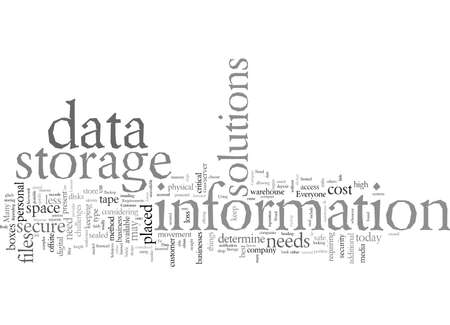 Data Storage Solutions Need To Fit Requirements Illustration