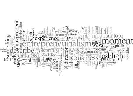 Entrepreneurialism A Walk In The Dark Ilustracje wektorowe
