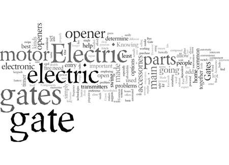 Electric Gates What Are They Made Of Foto de archivo - 132353223