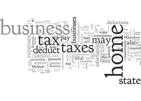 Home Business Legalities And Tax Advantages Illustration