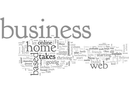 Home Based Business Myths That You Must Overcome 向量圖像