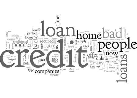 Home Loan For People With Bad Credit