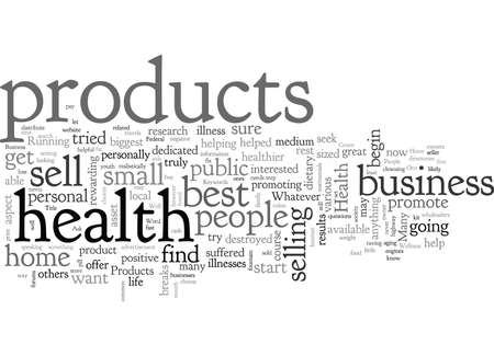 Home Business Health Products Illustration