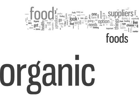 How To Find Organic Food Suppliers