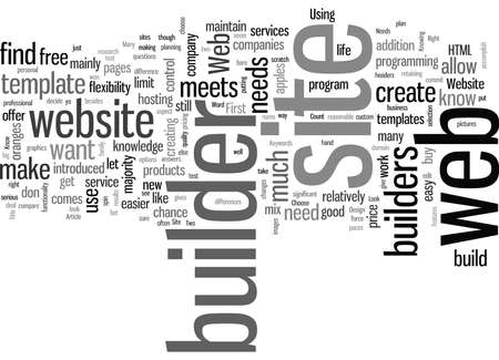 How To Choose The Right Web Site Builder For Your Web Design Needs
