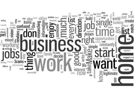 How To Choose A Home Business Or Job