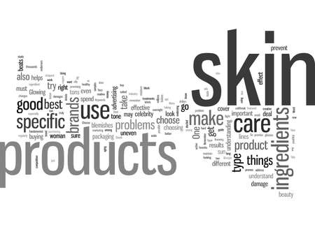 How To Choose The Right Skin Products Stock Illustratie