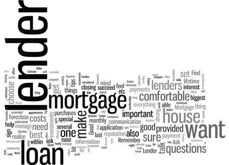 How To Find A Good Mortgage Lender