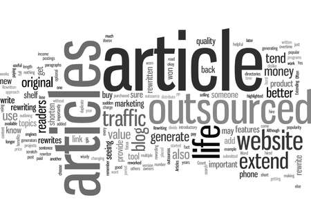 How to Extend the Life of Outsourced Articles