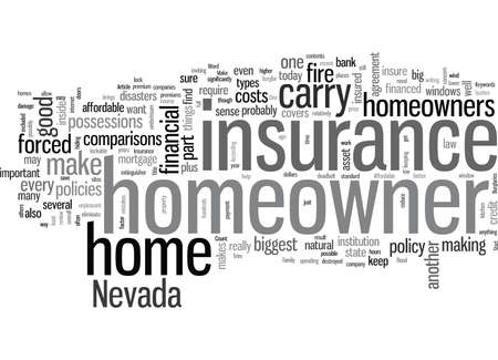 How To Find Affordable Homeowner s Insurance In Nevada 矢量图像
