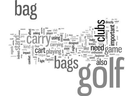 How To Choose A Golf Bag
