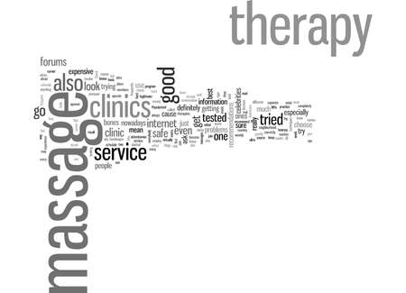 How to look for the best massage therapy clinics 일러스트
