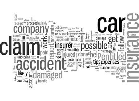 So stellen Sie einen erfolgreichen Kfz-Versicherungsantrag Vektorgrafik