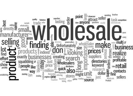 How To Find Wholesale Sources For Your Product