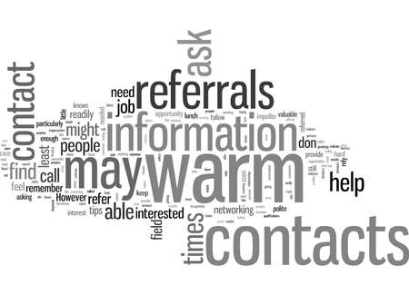 How To Get Referrals From Warm Contacts