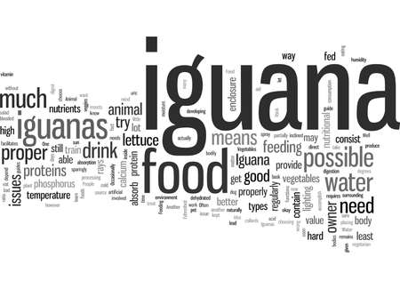 Aliments d'iguane