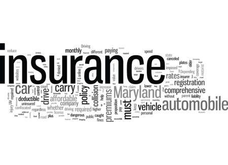 How To Get Affordable Automobile Insurance In Maryland Stock Illustratie