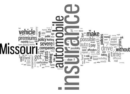 How To Get The Best Rates On Automobile Insurance In Missouri Stockfoto - 132371399