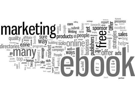 Cómo comercializar su libro electrónico Ilustración de vector